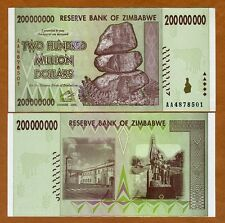 Zimbabwe, 200 million (200,000,000), 2008, AA-Prefix, P-81, UNC