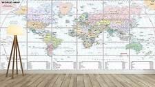 WORLD MAP CARTE DU MONDE  XXL Poster Home Deco Salon 252cmX150 Large print 02