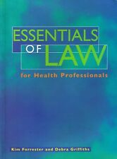 Essentials Of Law For Health Professionals - Forrester & Griffiths FREE EXPRESS