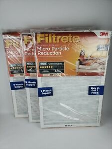 Filtrete 3M 20x30x1, Air Filter, MPR 800, Micro Particle Reduction, LOT OF 9