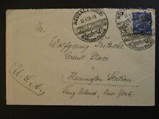 1938 Neusalz Oder Germany to Long Island New York USA Cover