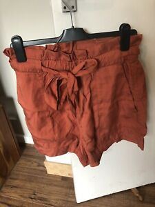 H&M Rust Pink Lyocell Shorts Size 14