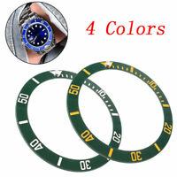 4 Types 38mm Black Blue Green Ceramic Bezel Insert For 40mm Mens Watch Replace