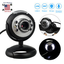 USB 2.0 HD Webcam Camera Web Cam LED W/ Microphone For PC Laptop Computer Deskto