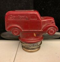 VINTAGE GORDON'S CHIPS KRISPY KAN TIN BLUE MAGIC DRI NOB GLASS CAR '50'S RARE