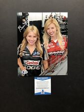 Courtney Brittany Force autographed signed 8x10 photo Beckett BAS COA NHRA Sexy