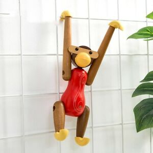 Room Colorful Wooden Hanging Monkey Ornaments Animal Figurine Carving Dolls