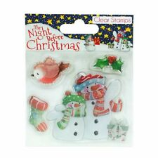 Dovecraft ~ 4 Unmounted clear stamps ~ The Night before Christmas ~ Snowmen