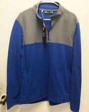 Under Armour UA Golf Outerwear Pullover Half Zip Blue Grey Cold Gear Longsleeve