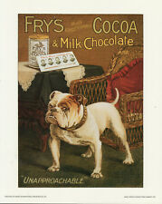 """FRY'S CHOCOLATE 16"""" x 20"""" LAMINATED PICTURE -retro pub cafe games home"""