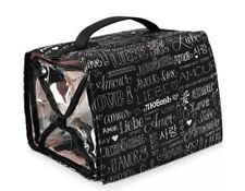 MARY KAY TRAVEL ROLL UP BAG COSMETIC ORGANIZER BLACK HANGING W/REMOVABLE POUCHES