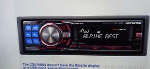 ALPINE CDA-9884 CD Player Imprint Audyssey MULT EQ AUX BT Ready *Tested Fully*
