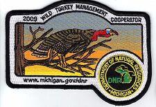 2009 MICHIGAN DNR SUCCESSFUL TURKEY-DEER HUNTER PATCH -HUNTING LICENSES- PINBACK