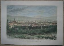 1874 print CLUJ KOLOZSVAR KLAUSENBURG, TRANSYLVANIA, ROMANIA (#9)