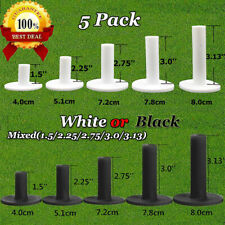 5 Pack Golf Rubber Tee Unbreakable Mixed Size White Color Golf Tees Durable