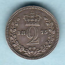 Great Britain.   1875 Victoria - Maundy Twopence..  aEF