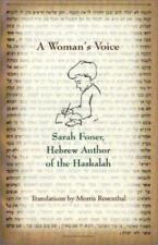 A Woman's Voice : Sarah Foner, Hebrew Author of the Haskalah HCDJ New, Sealed