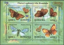 Romania 1985 Butterflies/Flowers/Insects/Nature/Conservation 4v m/s (b7313a)