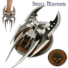 Fantasy Skull Mayhem Claw Gauntlet Knife Dagger 6-Blade Display Steel Replica