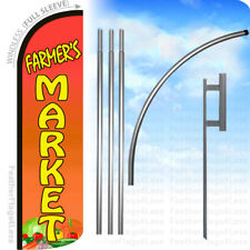Farmers Market - Windless Swooper Feather Flag Kit Banner Sign - yq