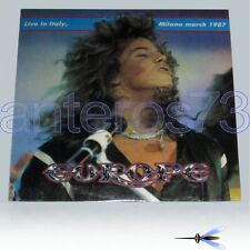 """EUROPE """"LIVE IN ITALY - MILANO MARCH 1987"""" RARE DOUBLE LP - MINT"""
