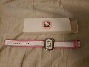Hello Kitty Sparkle Pink & White Watch new in Original Box
