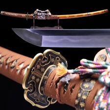 Hideyoshi Tachi Sword Folded Jihada Forged Steel Blade w Clay Tempered  #1323