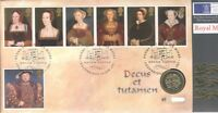 GB QEII PNC COIN COVER 1997 HENRY VIII & HIS 6 WIVES £1 COIN B/UNC