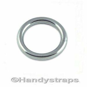 Round Ring Stainless Steel Mooring Rings 8mm x 50mm Marine