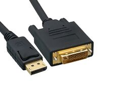 3ft DisplayPort Male to DVI Male 28AWG Cable