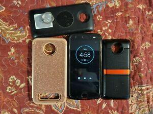 Motorola Moto Z2 Force XT178901 - 64GB - Black (Unlocked) Smartphone w/extras