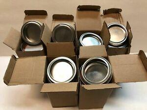 NEW LOT OF 72pc Standard 70mm Mason Jar Lids, Silver