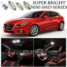 5050 SMD White LED Interior Lights Package Kit For 2014-2016 Mazda3 10pcs