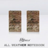 """AA Shield All Weather 3""""X5"""" Note Book Camo Color Waterproof Outdoor Map 2 pcs"""