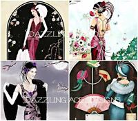 8 ART DECO LADIES SET #2 Embellishments, Card Toppers, Card Making Toppers