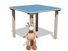 Kindertisch -mit hellblauer Tischplatte - stabil