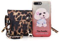 Animal Print Deer Small Women Messenger Bag PU Leather Shoulder Crossbody Bags