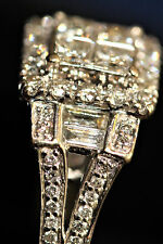 3/4 carat total Diamond14k Engagement ring 4 Princess-4 baguettes-52 rounds Deco