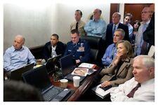 Barack Obama Hillary Clinton Joe Biden During Osama Bin Laden Raid Neptune Spear