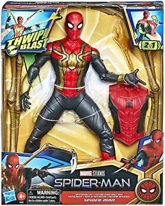 Spider Man Marvel 13-Inch Scale Thwip Blast Integrated Suit Action Figure