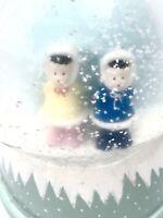 vtg. SNOW GLOBE Music Box Alaska Eskimo Friends 2005