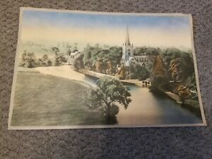 Vintage aquatint hand color print? Not sure just beautiful & old