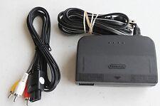 *FAST SHIP* Official Nintendo 64 AC Power Supply Brick + AV RCA Cord ~ Hookups