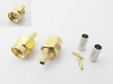 10pcs Rp Sma Male Straight Crimp For Rg174 Rg179 Rg316 Rg188 Cable Connector New