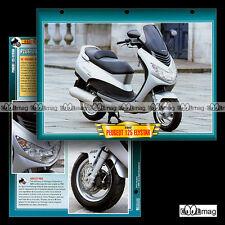 #117.10 Fiche Moto Scooter PEUGEOT 125 ELYSTAR 2002 Motorcycle Card