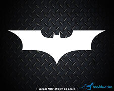 "Batman Logo Emblem Superhero Dark Knight Car Decal / Laptop Sticker - WHITE 5"""