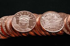 2013 (20) STATUE OF LIBERTY 1OZ ROUND .999 COPPER PROOF LIKE FAST SHIP NEW DESIG