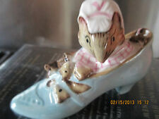 """BESWICK  ~ BEATRIX POTTER """" THE OLD WOMAN WHO LIVED IN A SHOE"""" FIGURINE"""
