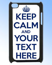 IPOD TOUCH 4 KEEP CALM AND ???? (YOUR OWN TEXT HERE)  REAR COVER / CASE