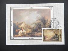 RUSSIA MK 1978 PAINTING MALEREI PFERD HORSE DOG CARTE MAXIMUM CARD MC CM a8168